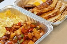Classic Hot Breakfast with Homefries