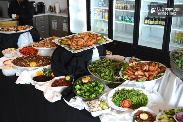 Pleasing Deluxe Salad Bar With Gorgeous Setup From Arguello Catering Interior Design Ideas Tzicisoteloinfo