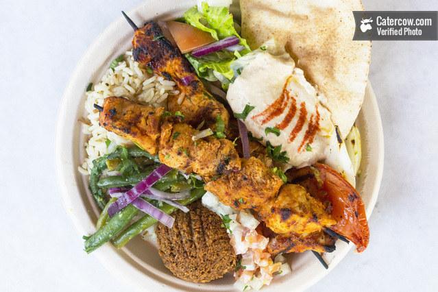 Gaby's Chicken Kebab & Falafel Meal
